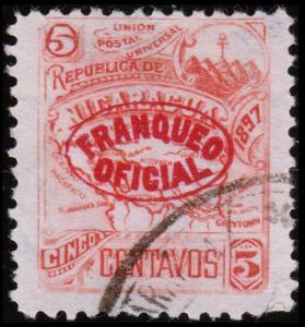 Nicaragua Scott O111 (1897) Used H F-VF B