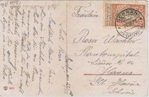 Liechtenstein - 10Rp 1928 Prince Johann II - New Year's Card - to Switzerland