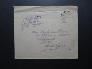 Egypt 1941 Active Service Cover to South Africa / Top Creasing - Z11556