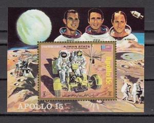 Ajman, Mi cat. 1116, BL319. Space issue, Apollo 15 s/sheet.