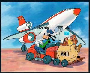 LESOTHO - 1990 - DISNEY - GOOFY - AMERIPEX - MAIL - AIRCRAFT - MINT MNH S/SHEET!