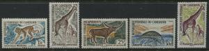 Cameroon 1960's Animal values to 40 francs mint o.g.