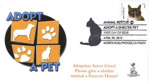 Animal Rescue, Adopt A Shelter Pet First Day Cover #5B