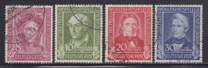 Germany B310-B313 VF-used set nice colors scv $ 146 ! see pic !
