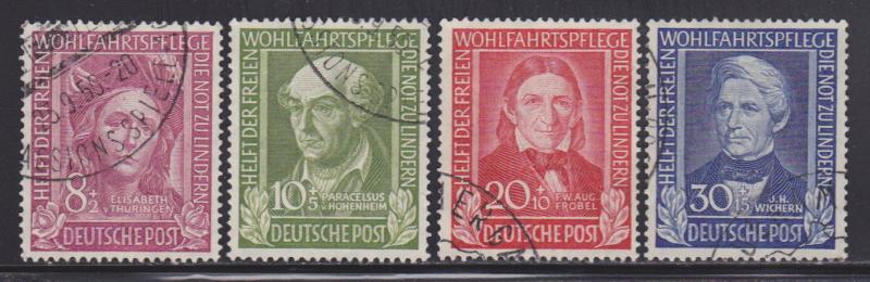 Germany B310-B313 VF-used set nice colors scv $ 146 ! see pic !
