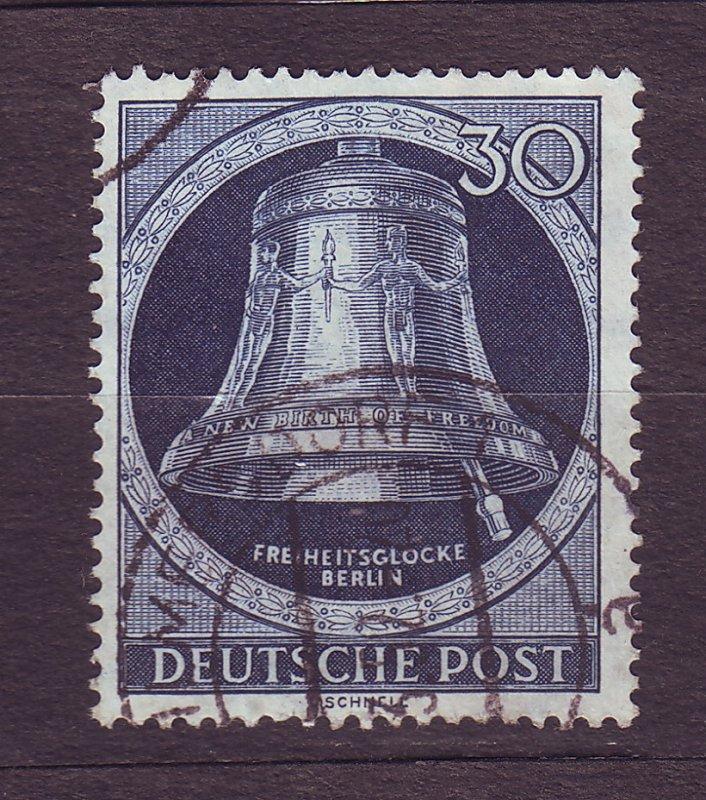 J23187 JLstamps 1951-2 berlin germany hv of set used #9n78 bell clapper right