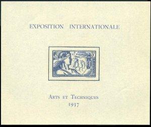 St Pierre & Miquelon 171,MNH.Michel 168 Bl.1. Paris 1937 Art EXPO.Girls,Torch.