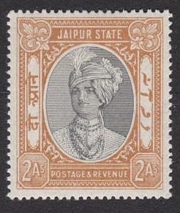 INDIA JAIPUR 1932-46 2a SG53 fine mint - lightly hinged....................55289