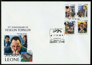 SIERRA LEONE 2020 45th ANNIVERSARY OF VESELIN TOPALOV CHESS SET  FDC