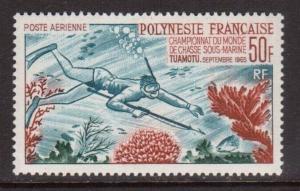French Polynesia #C37 VF/NH