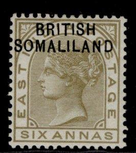 SOMALILAND PROTECTORATE QV SG7, 6a olive-bistre, M MINT.