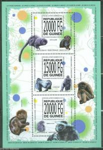 GUINEA 2013 MONKEYS OF THE WORLD  SHEET MINT NH