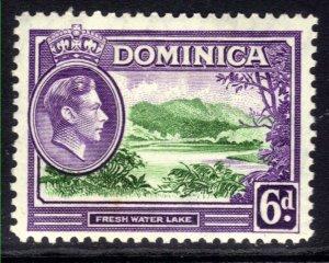 Dominica 1938 - 47 KGV1 6d Fresh Water Lake MM SG 105 ( B608 )