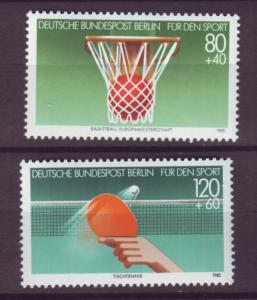 J20760 Jlstamps 1985 berlin germany set mnh #9nb221-2 sports