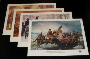 #1686-89 1976 AMERICAN BICENTENNIAL SOUVENIR SHEETS MINT-OG/NH WITH PO ENVELOPE