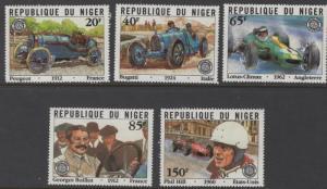 NIGER 583-587 MNH GRAND PRIX WINNERS SET 1981