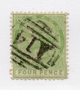 Tobago - SG# 10 Used / wmk crown CC /  Lot 0916041