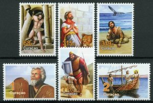 Curacao Biblical Figures Stamps 2019 MNH Jonah & Whale David & Goliath 6v Set