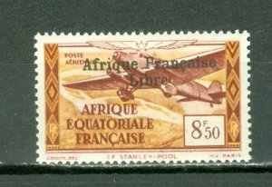 FRENCH EQUATORIAL AFRICA AIR OVPT #C14 ...MINT...$3.25