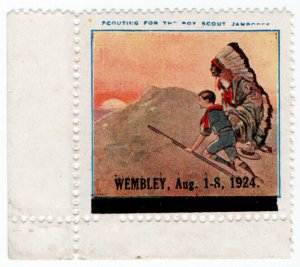 (I.B) Cinderella Collection : Scout Jamboree Label (Wembley 1924)
