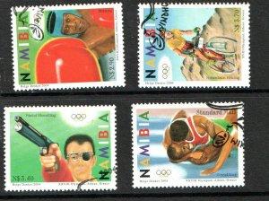 2004   NAMIBIA  -  SG: 978/81  -  SUMMER OLYMPICS,ATHENS  -  USED