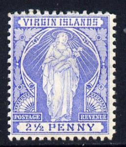 British Virgin Islands 1899 Virgin Crown CA 2.5d ultramar...