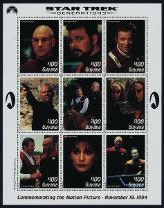 Guyana 2904-5 MNH Star Trek Generations, Movie, Science Fiction
