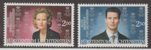Liechtenstein Scott #1239-1240 Stamps - Mint NH Set