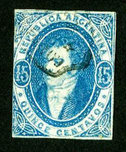 Argentina Stamps # 10 F-VF Rare Used Scott Value $6,500.00
