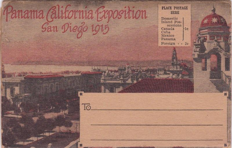 VINTAGE PANAMA CALIFORNIA EXPOSITION SAN DIEGO 1915 SOUVENIR & 21  VIEWS  R3655