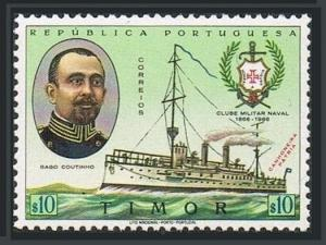 Timor Port 323,MNH.Michel 346. Navy Club 1967.Capt.G.Coutinho,gunboat Patria.
