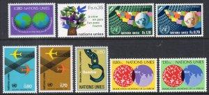 UN Geneva 73-81 Year Set for 1978 MNH VF