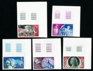 Monaco Stamps # 624-8 XF OG NH Imperforate Color Proofs