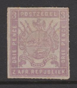 Transvaal 1870 Sc#25 SG#24 MNG Fine Roulette 15.5 Otto, Gustrow, M-Schwerin