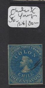 CHILE (P1506B) COLUMBUS 10C SC 6  MARGINS VFU