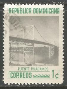 DOMINICAN REPUBLIC 518 VFU BRIDGE V503-2
