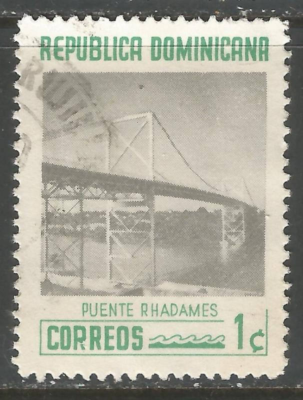 DOMINICAN REPUBLIC 518 VFU BRIDGE V503-2