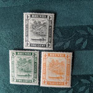 Brunei 43, 5, 8 VFNH, CV $12.10