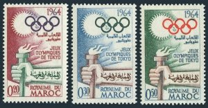 Morocco 106-108,MNH.Michel 538-540. Olympics Tokyo-1964. Torch.
