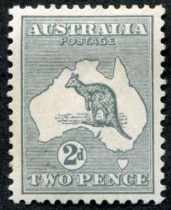 Australia 38 Mint VF Hinged 2p, 2nd wmk Kangaroo