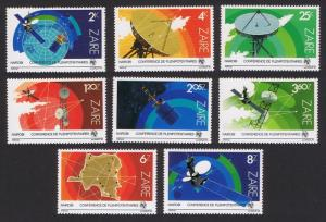 Zaire Space Exploration Telecommunications 8v SG#1163-1170 SC#1121-1128 CV£6.5