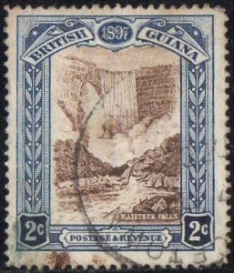 British Guiana 1898 2c brown and indigo (QV Jubilee) used