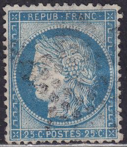 France 58 Hinged 1871 Ceres 25c