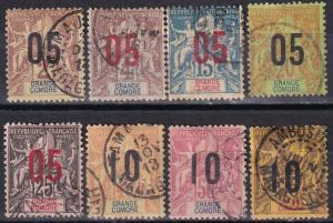 Grand Comoro #20-4, 26, 28-9  Used  CV $12.75  Z912
