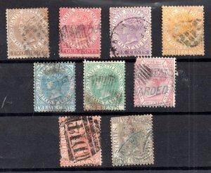 Straits Settlements 1867 basic used set (odd fault) SG11-19 WS15559