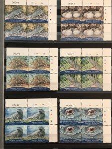CAYMAN ISLANDS - Blue Iguana Mint Blocks 2004