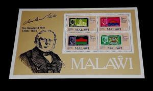 MALAWI #357a, 1979, SIR ROWLAND HILL, SOUVENIR SHEET, MNH, NICE! LQQK