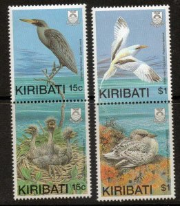 KIRIBATI SG299/302 1989 BIRDS WITH YOUNG MNH