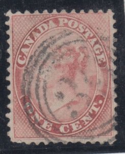 4 ring #39 ST. JOHNS CE RF5 ** cancel VF with * certificate * #14 1c Rose Canada