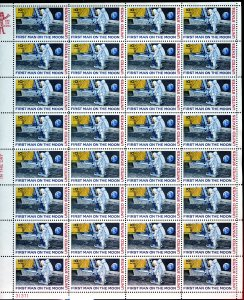 SCOTT #C-76 FIRST MAN ON THE MOON 10 CENT AIR MAIL OG/MNH (32 STAMP SHEET) 2455